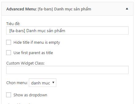 Cách thêm icon vào Widget title trong WordPress